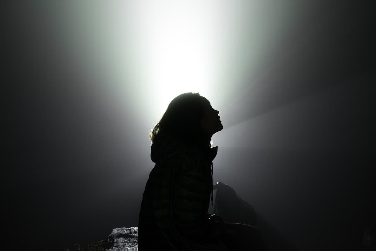 light and dark woman