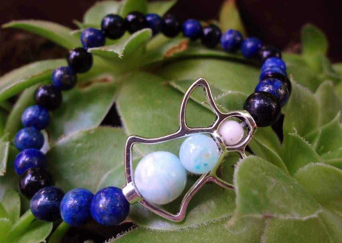 crystal bracelet on plant