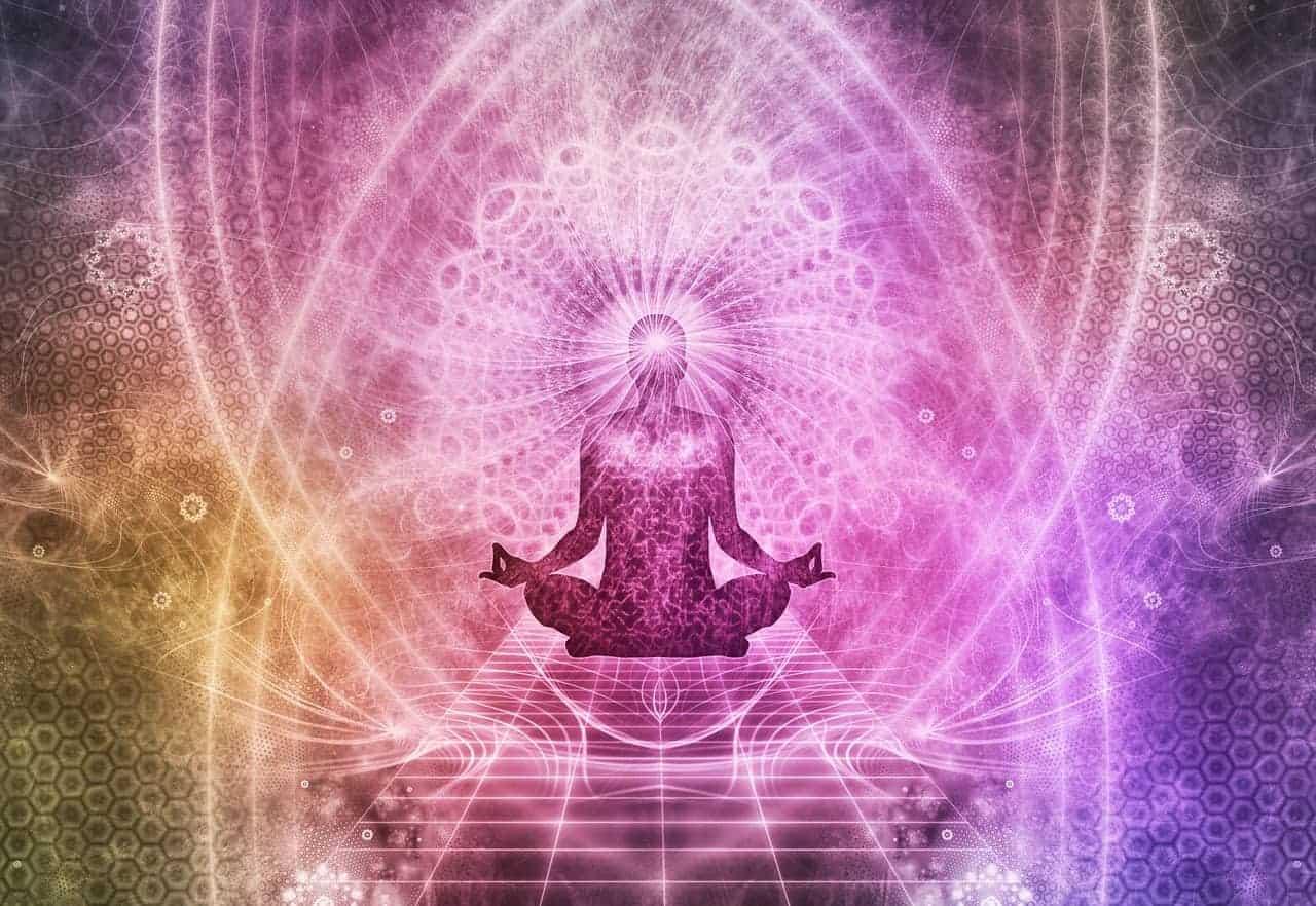 meditation pink illustration