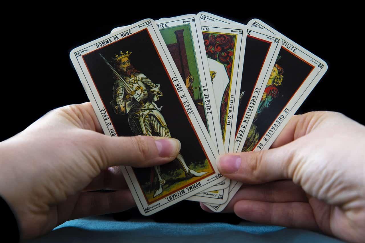 tarot cards black background