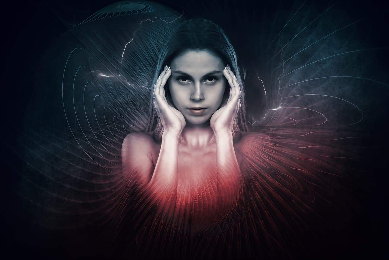 women radiating psychic energy