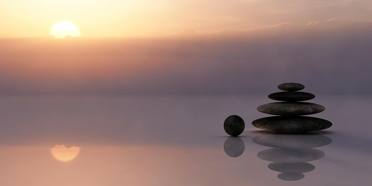 stones balance sun