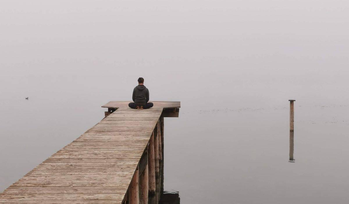 man self reflecting