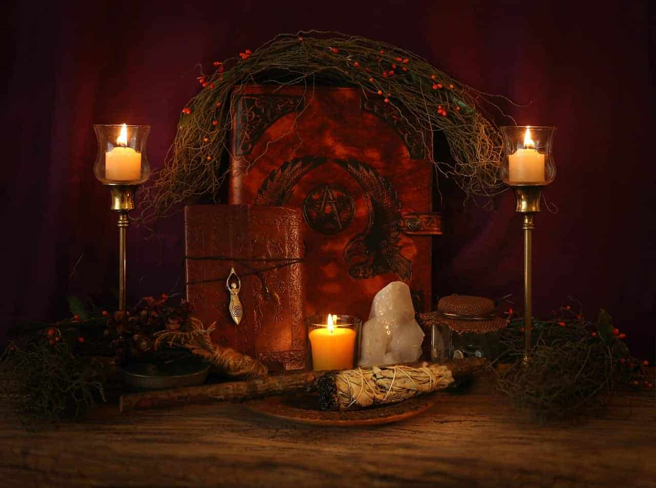 wiccan candles book