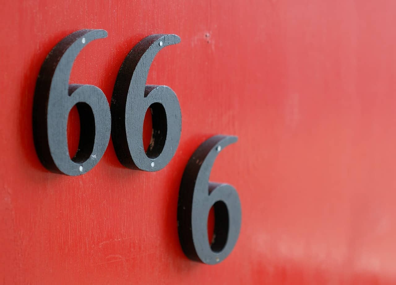 red background 666