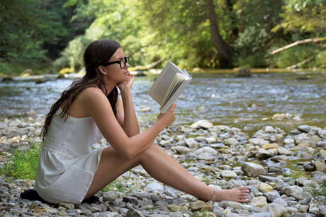 simple pleasures woman reading