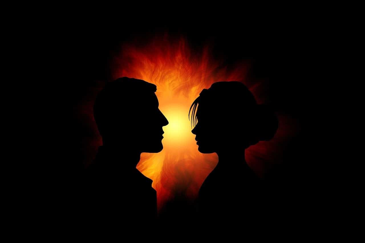 twin flame silhouette