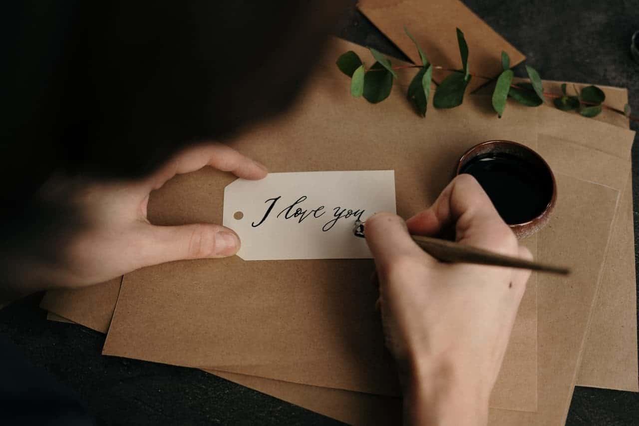 budding romance note