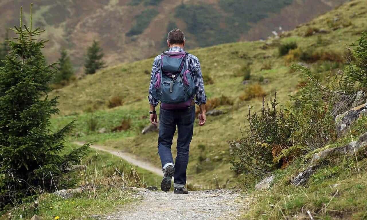 keep walking man