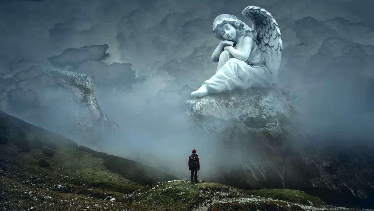 person dreamy angel