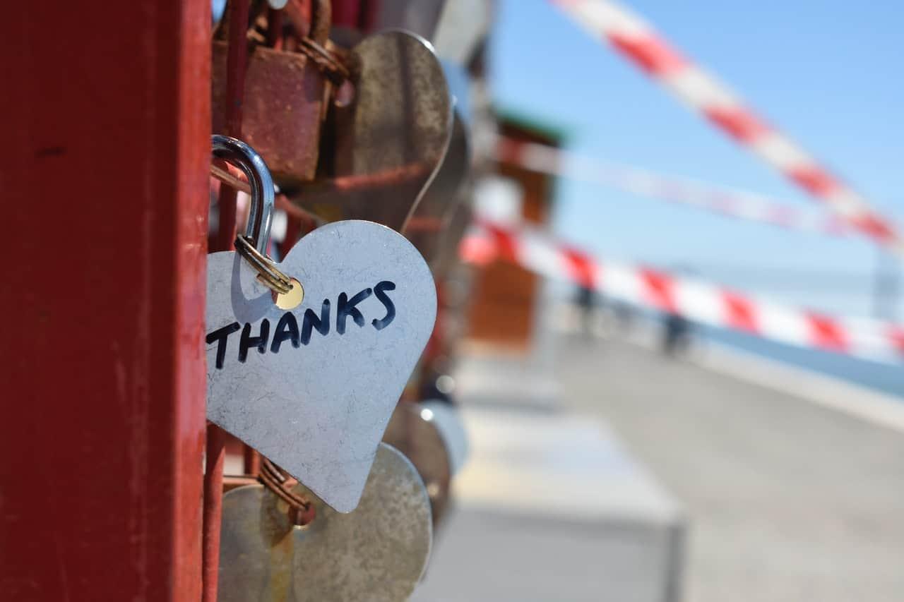 thanks heart writing