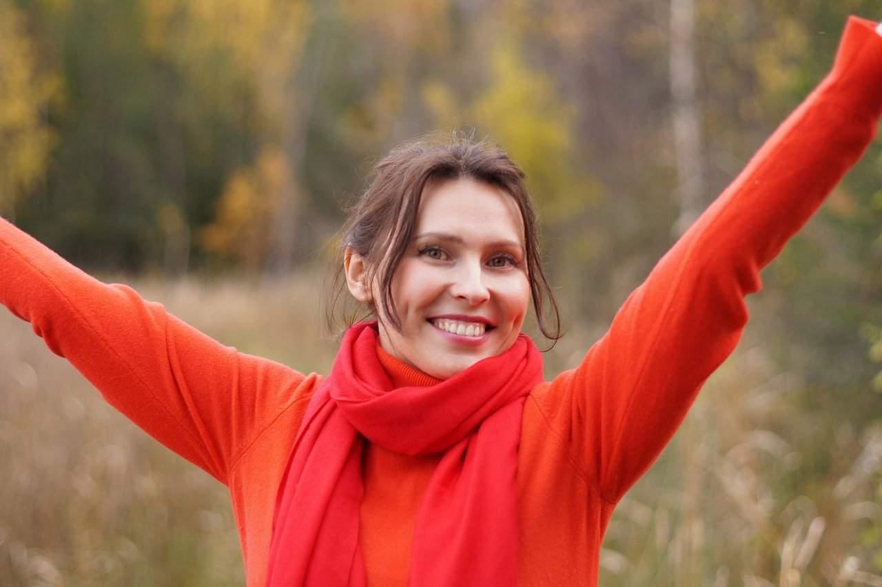 woman happy purpose