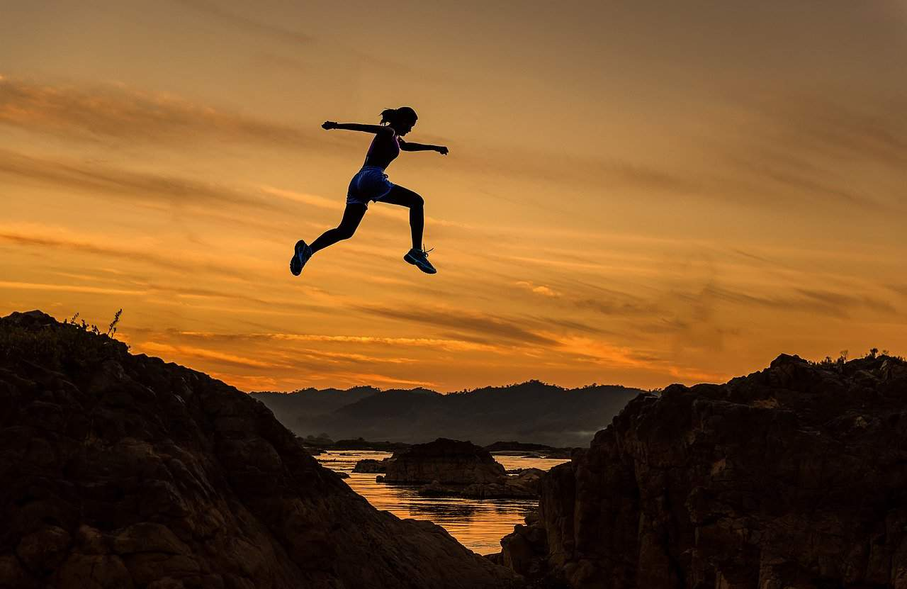 chasing fortune woman jump