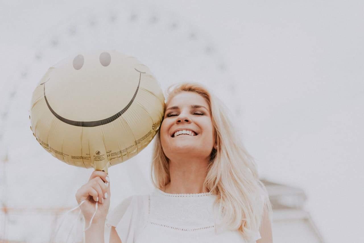 keeping positive woman