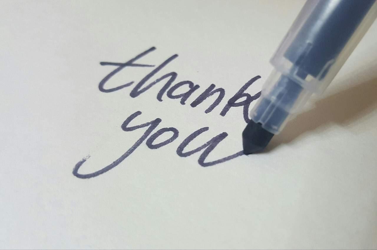 thank you writing