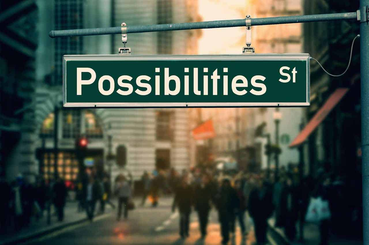 possibilities sign road