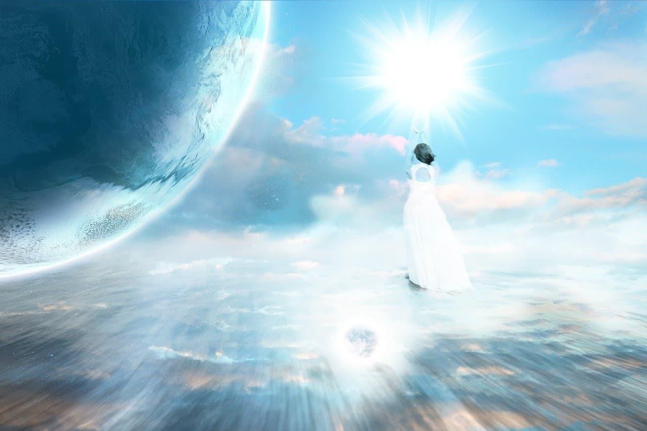 angel healing earth