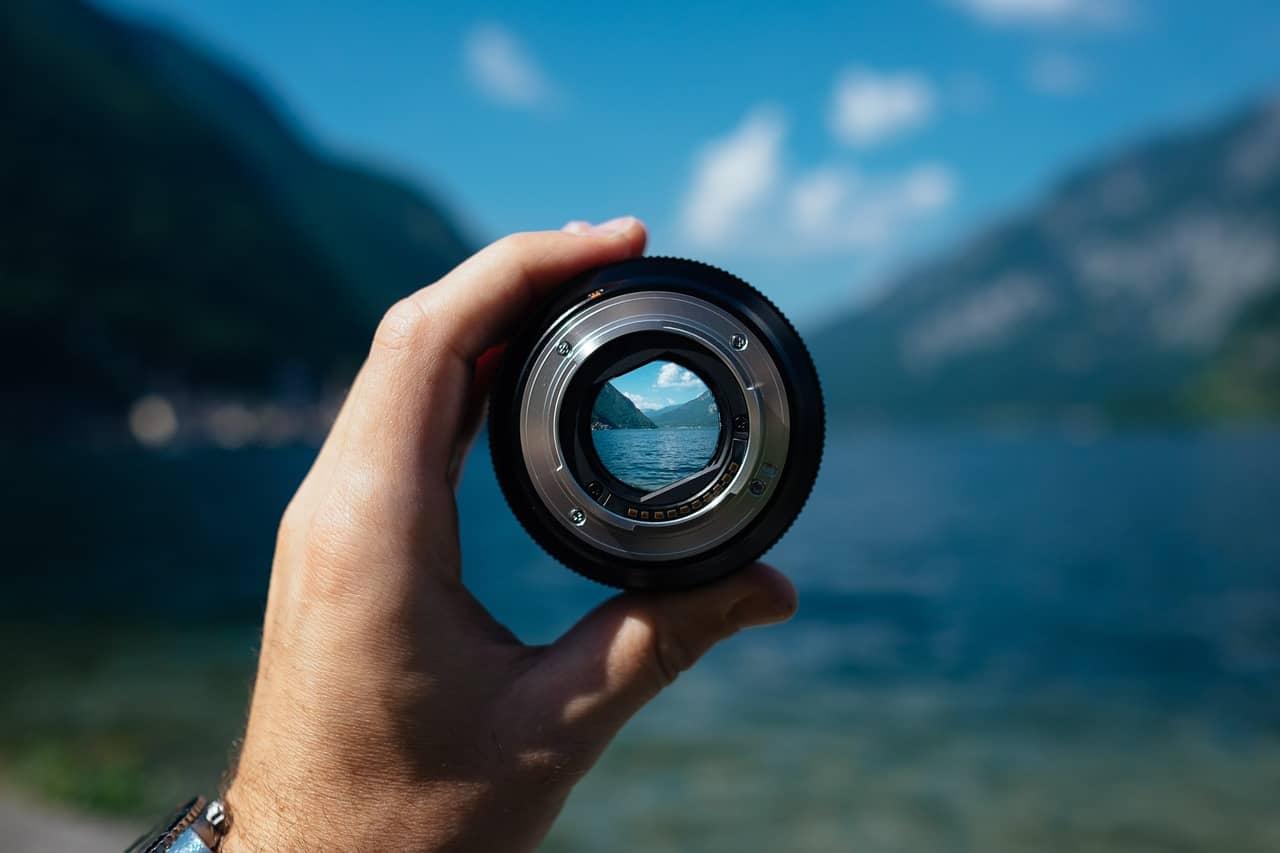 focused lense view
