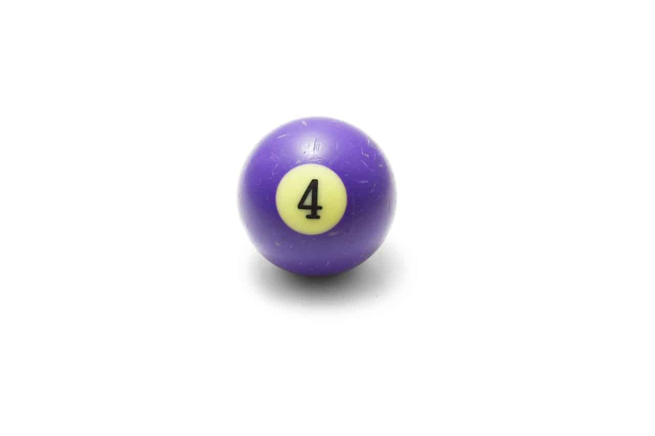 billiards ball number four