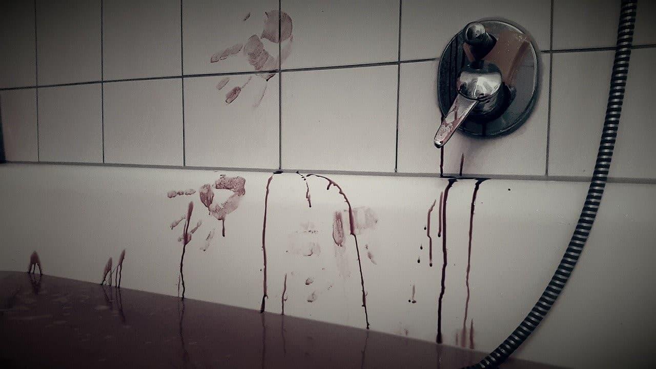 murder scene bath