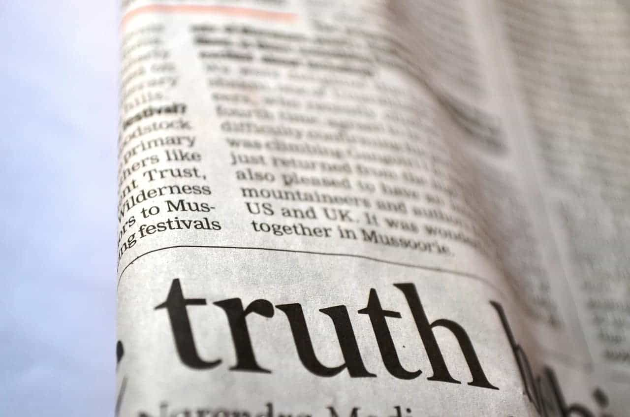 newspaper text truth