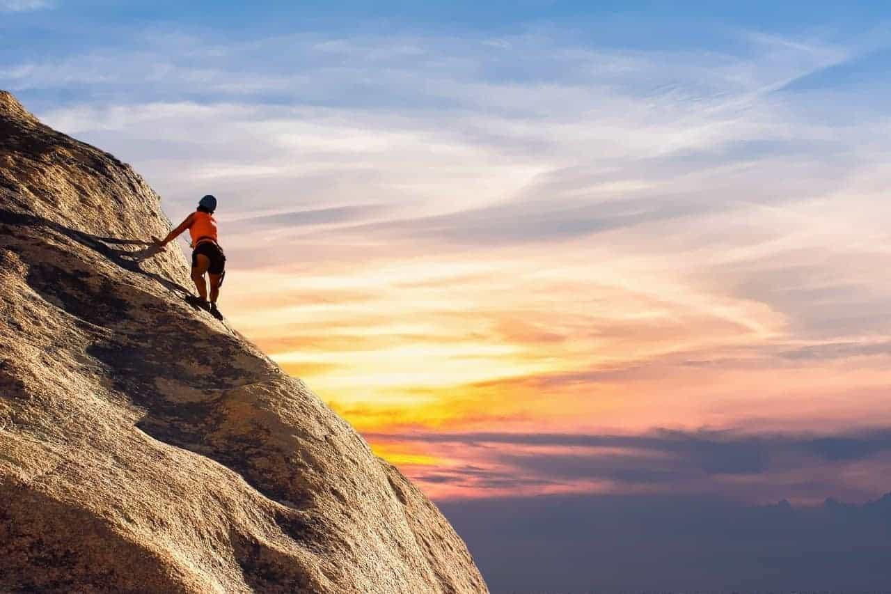 commitment hard work climb