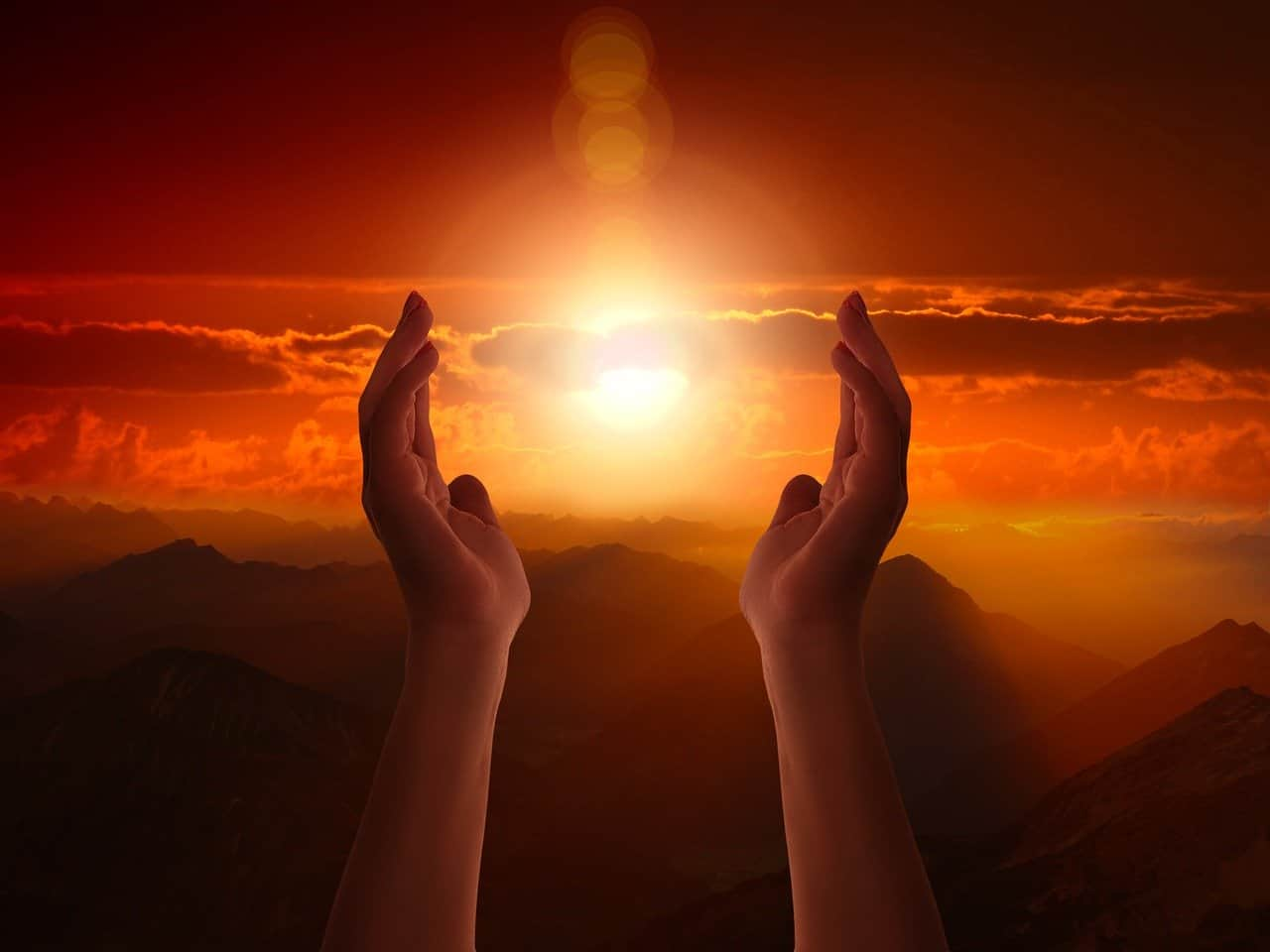 hands sun spiritual