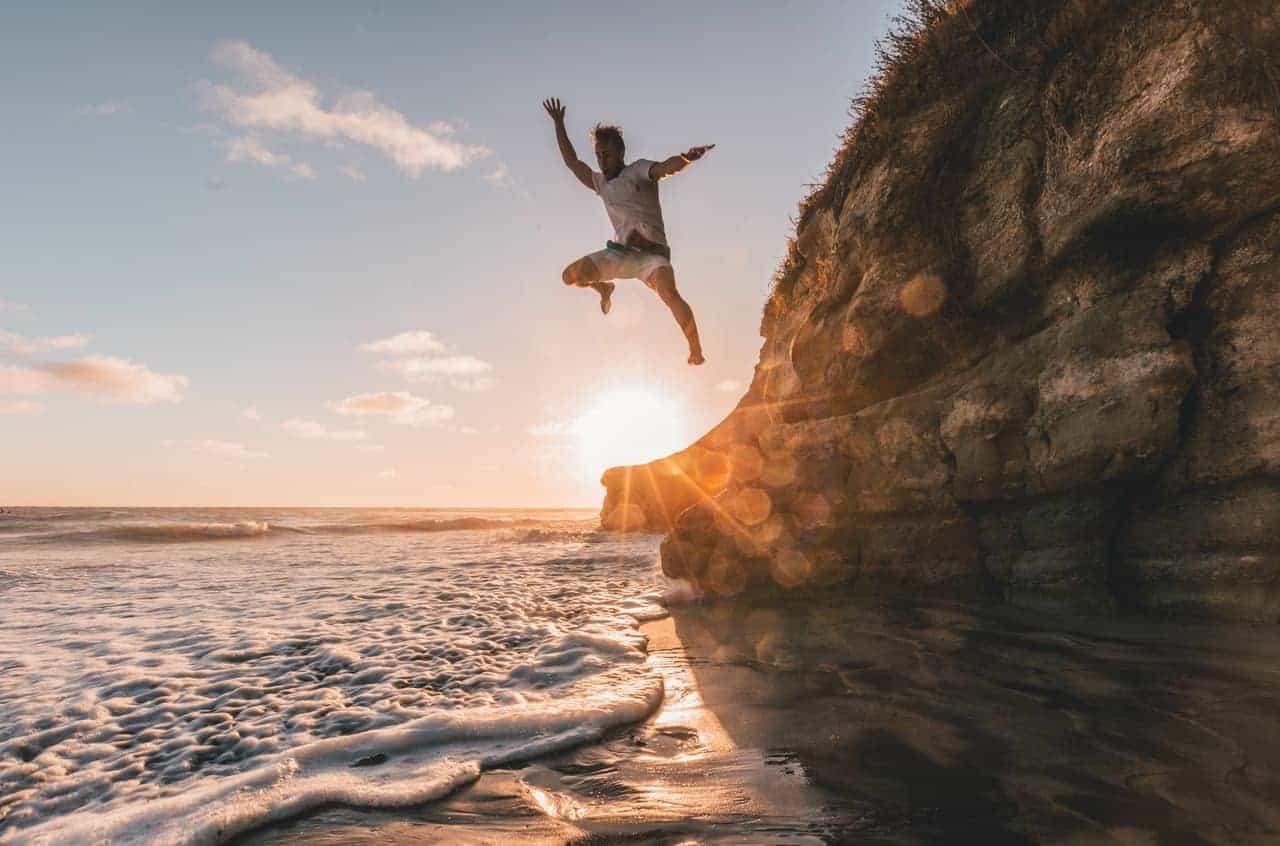 taking chances jumping man