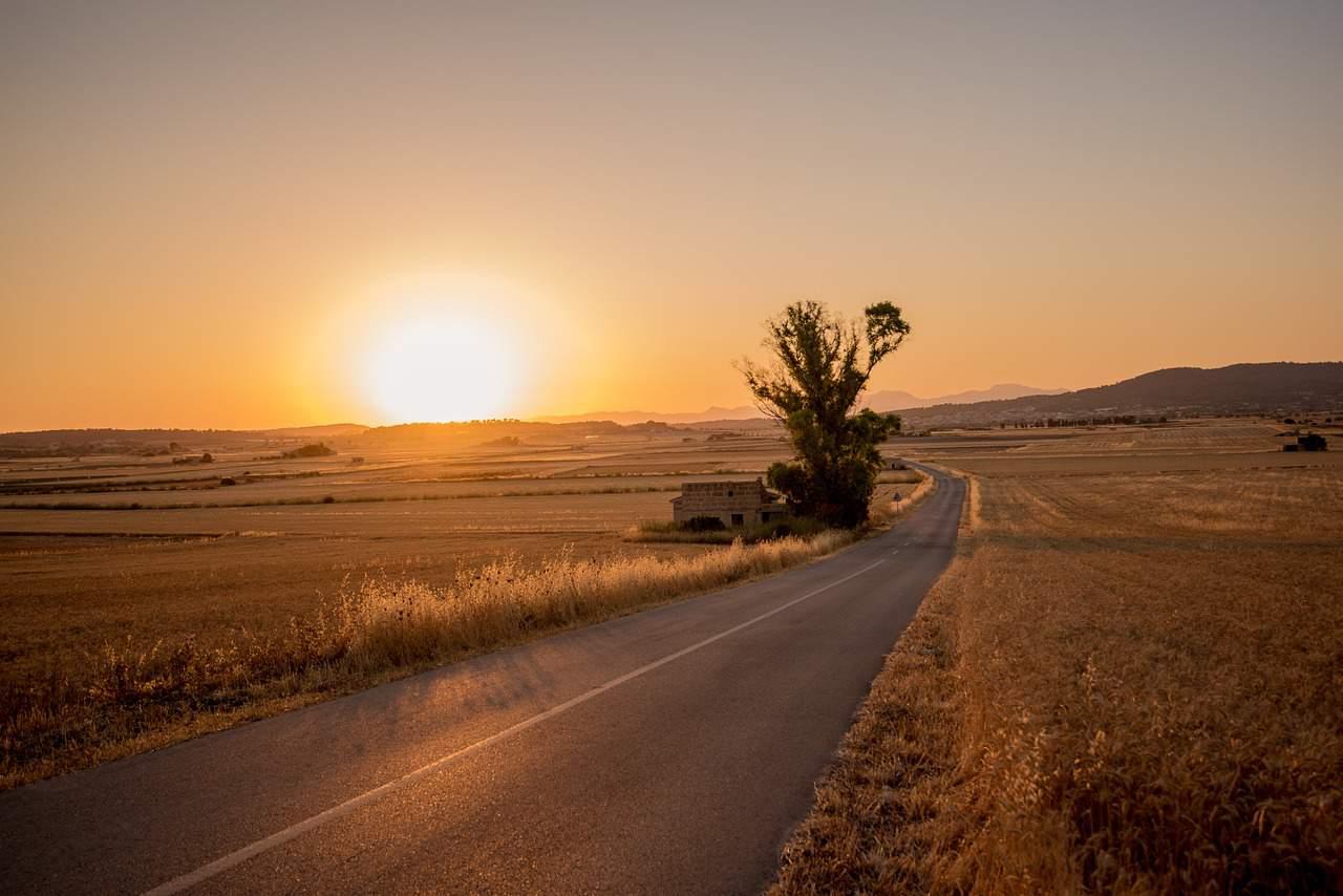 right path empty sun