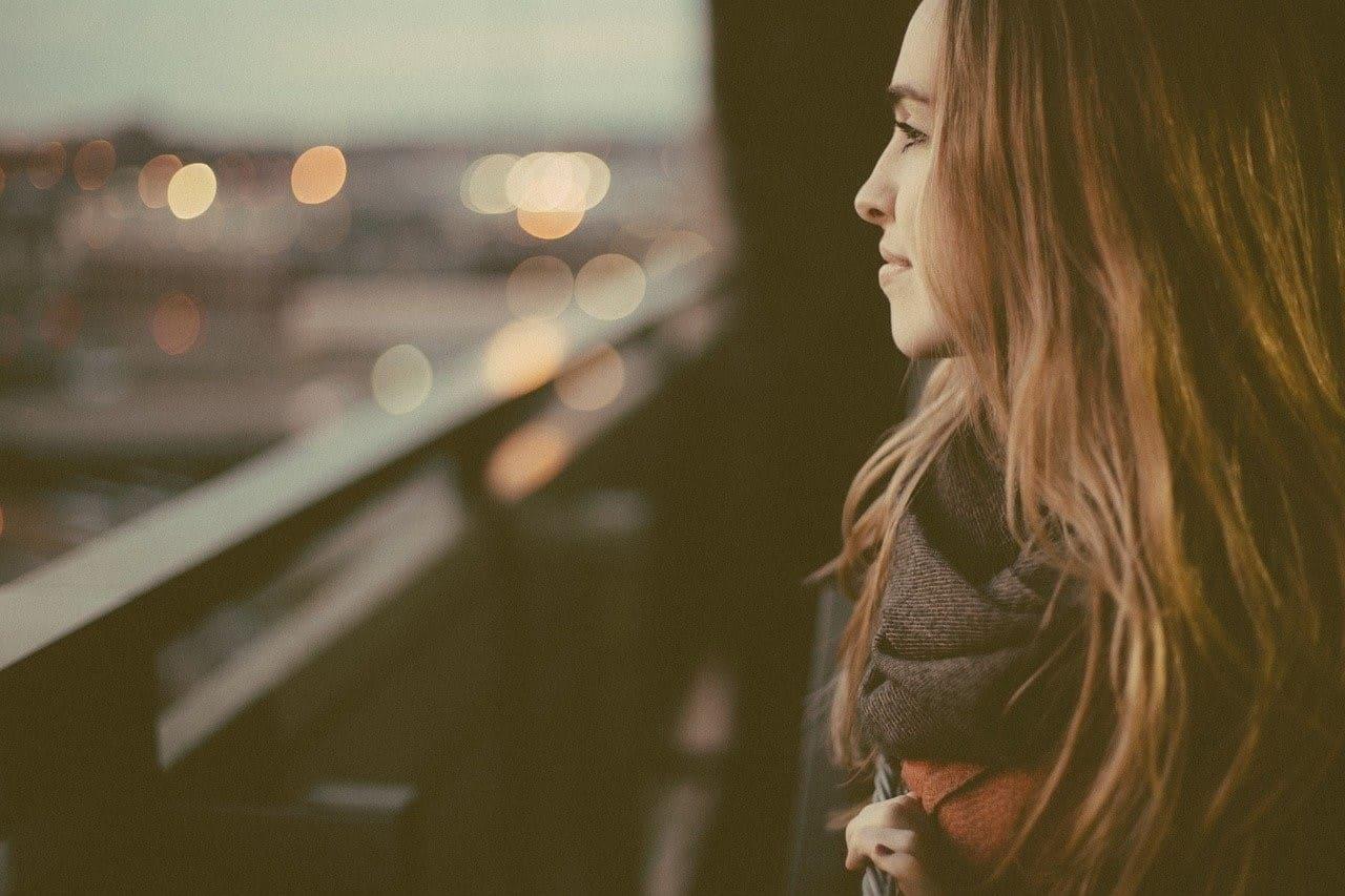 thinking woman alone