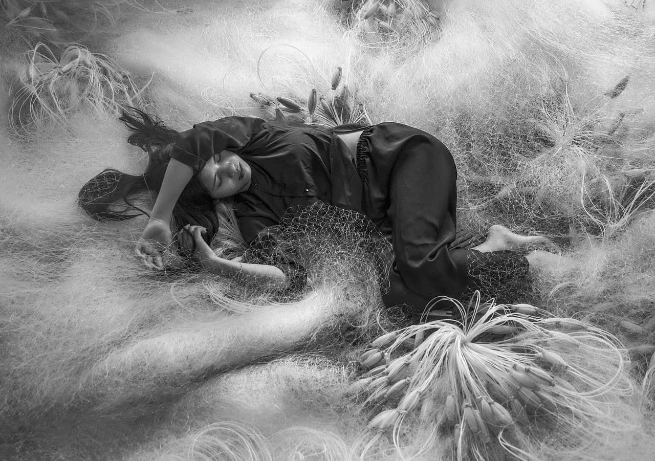 woman dreaming asleep