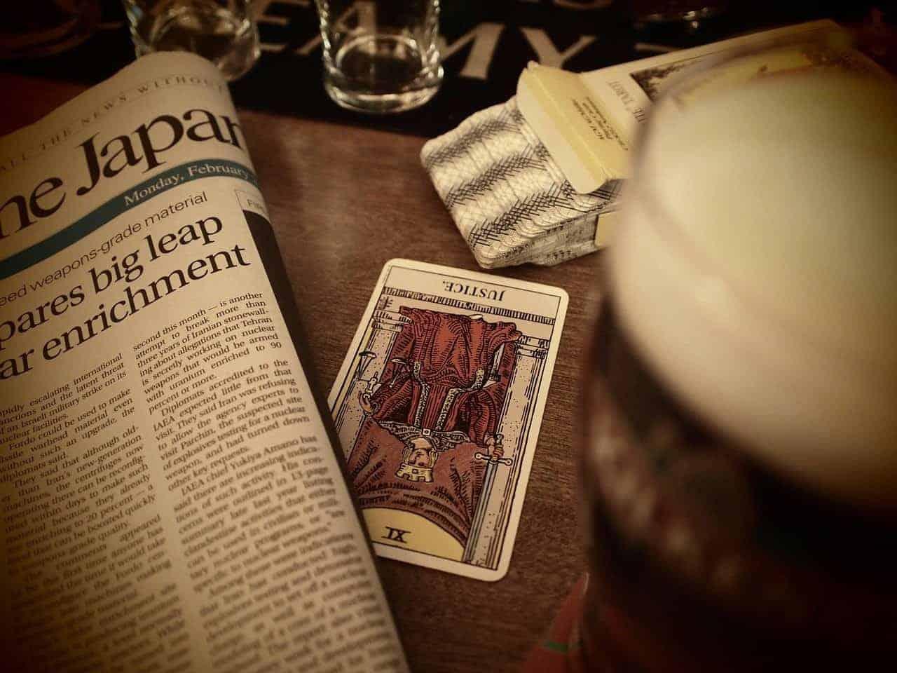 tarot card newspaper