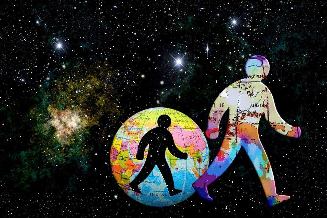 universe man walking