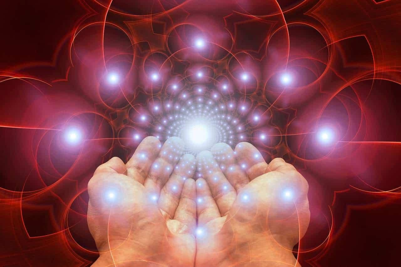 hands sparkles
