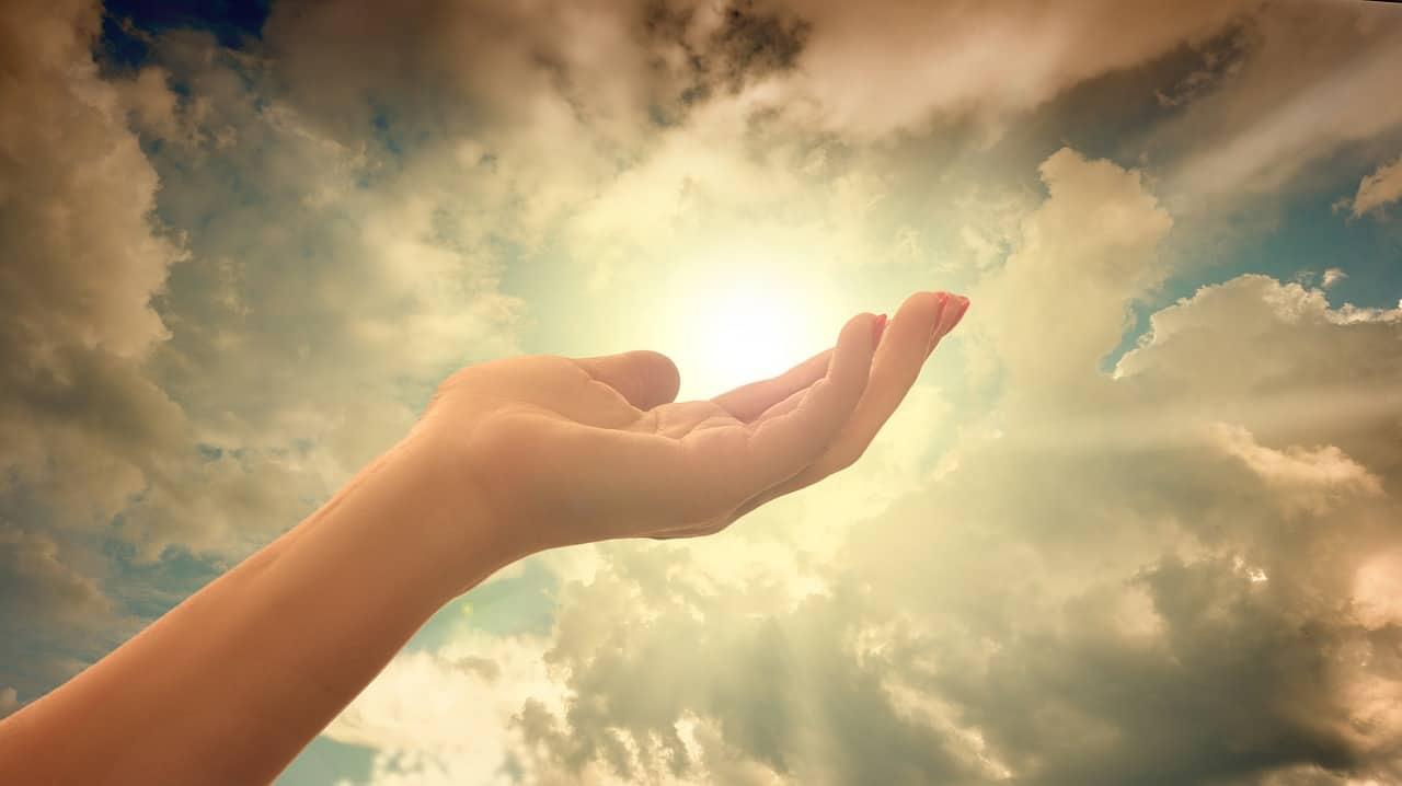 faithful person hand