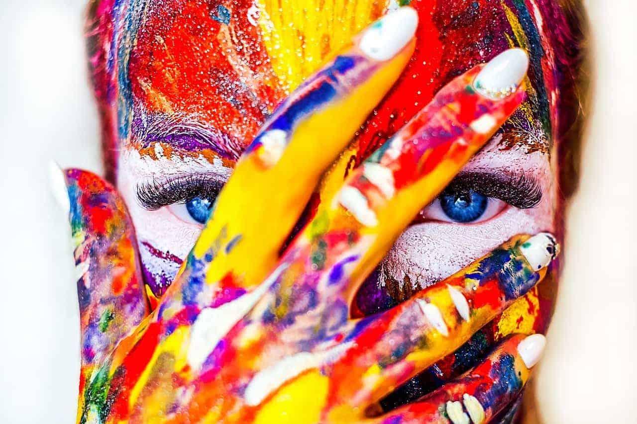 creativity woman face