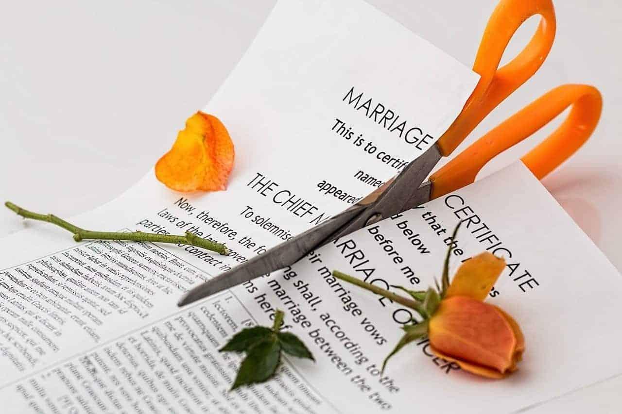 cutting marriage certificate