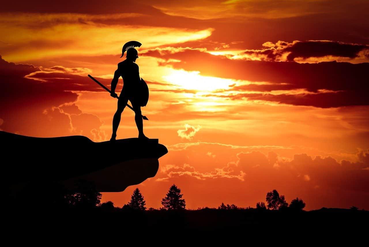 brave spartan silhouette