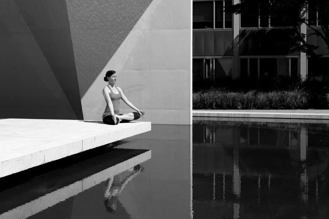 alone meditation woman