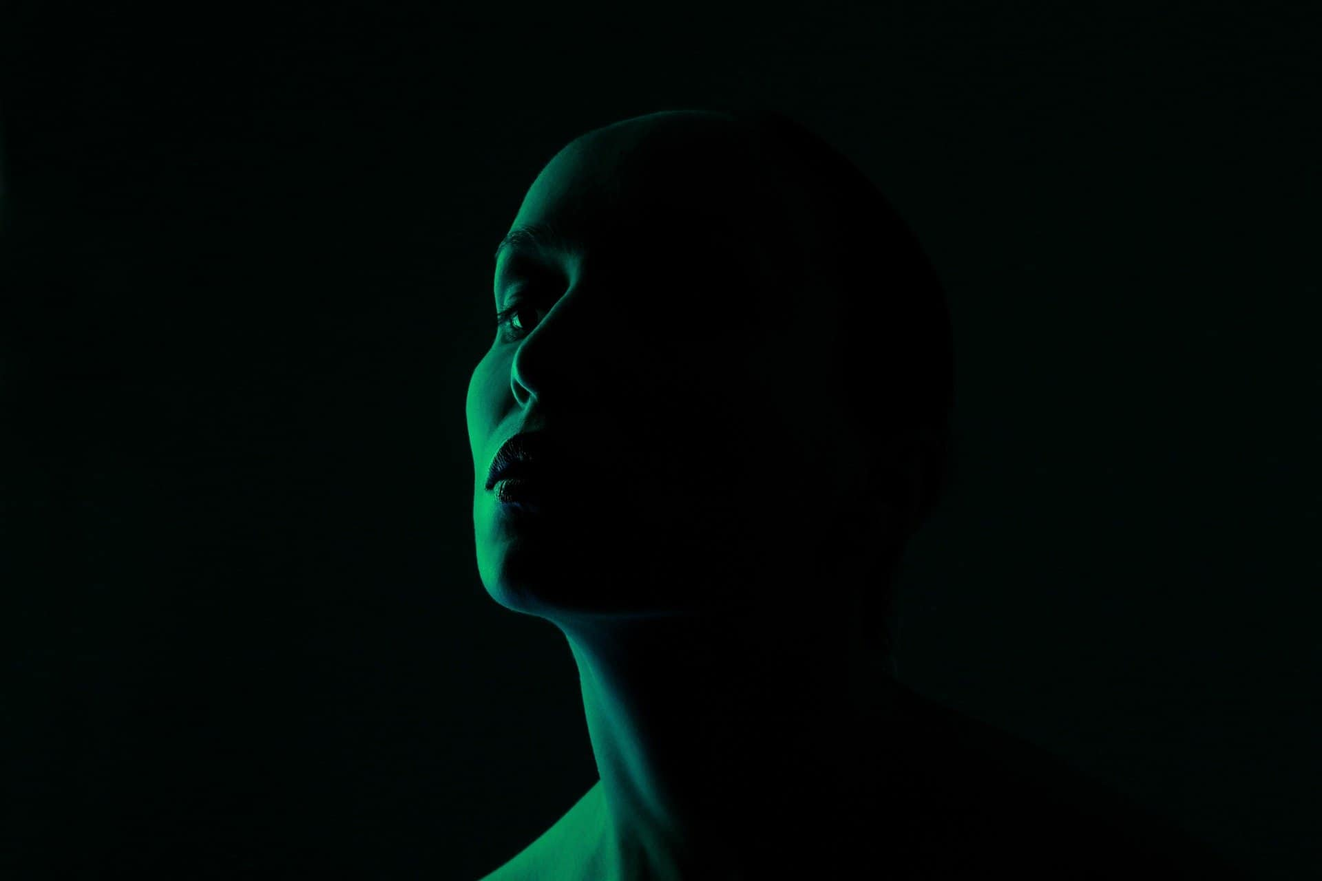 light green woman