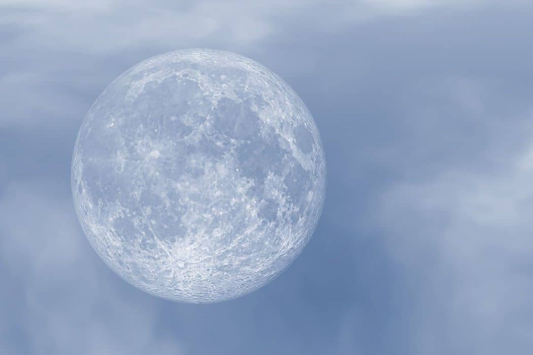 light blue moon