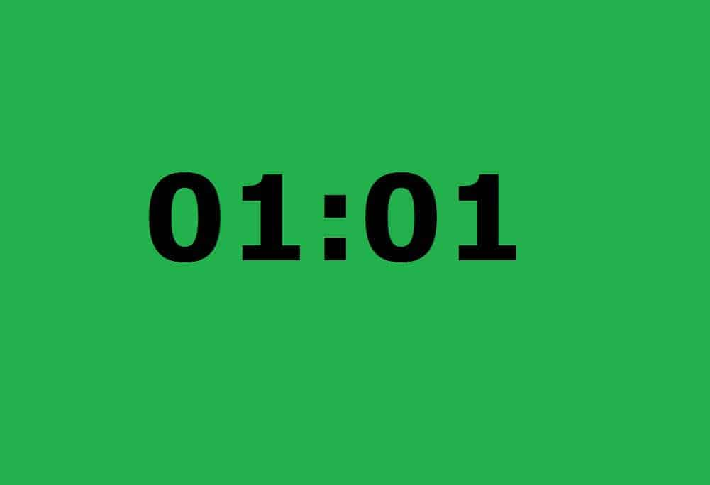 01:01 Mirror Hour