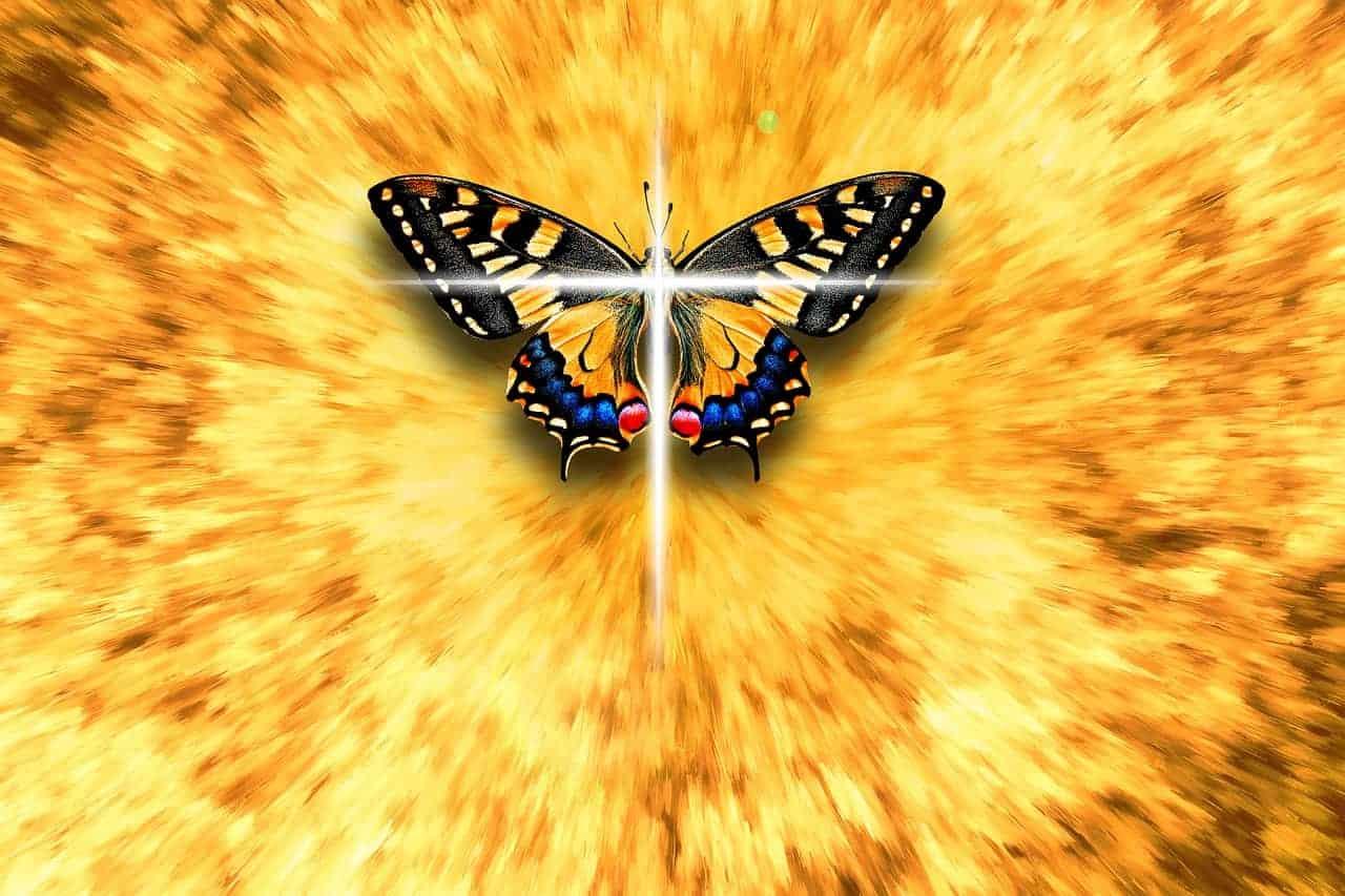 butterfly Christianity cross