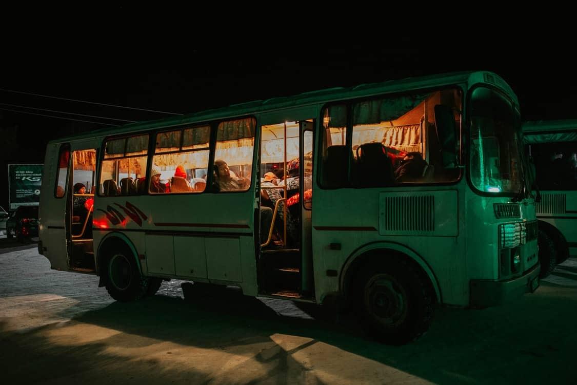 bus night time