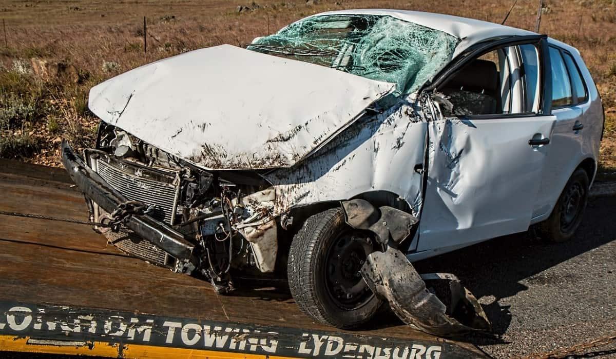 white car accident