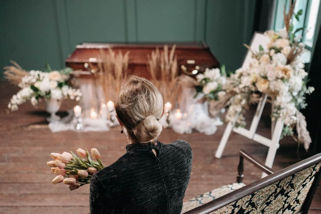 woman in funeral