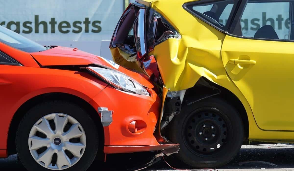 car crash orange yellow