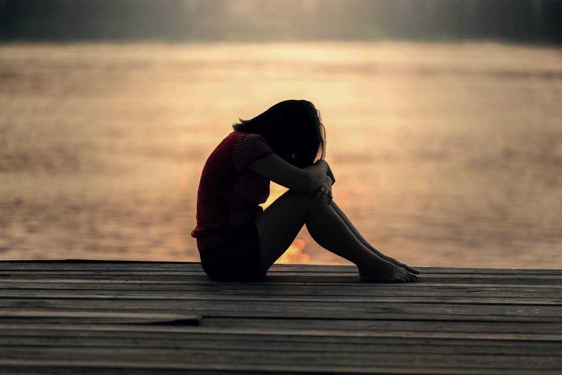 grieving person