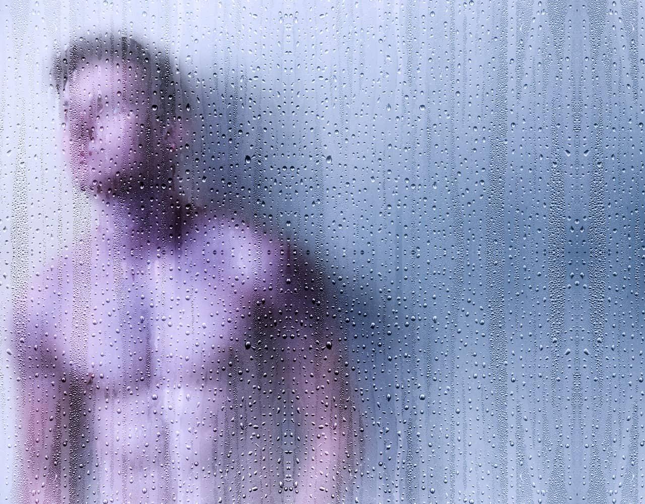 mirror shower man
