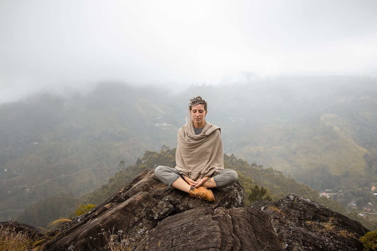 woman manifesting view